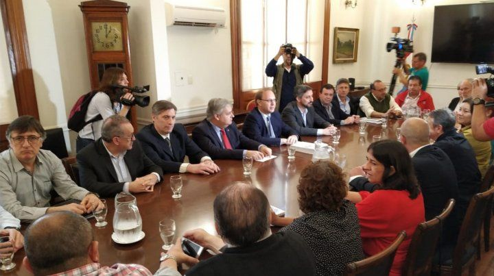 Encuentro. En Casa de Gobierno