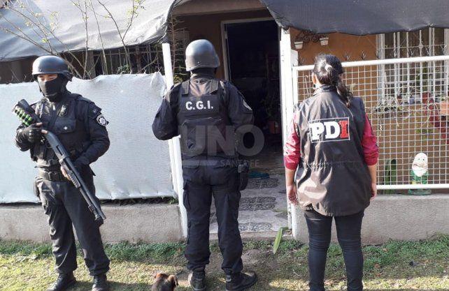Los allanamientos llevados a cabo en la localidad de Frontera.