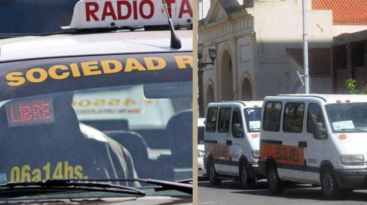 Taxis y escolares