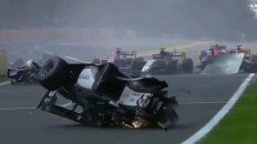 video: brutal accidente en la formula 2