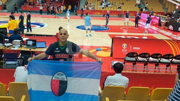 Colón dijo presente en el Mundial de básquet de China