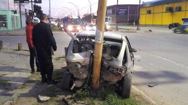 El accidente sucedió este lunes antes de las 6.