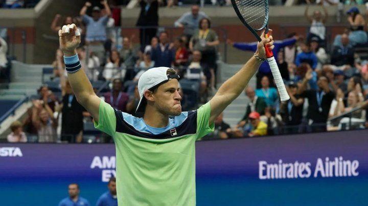 Schwartman dio el batacazo y se metió entre los ocho mejores del US Open