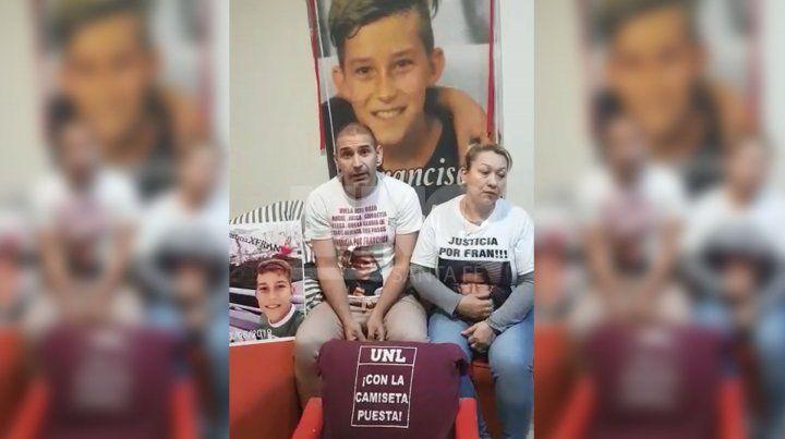 Emotivo pedido de justicia de los padres de Francisco Sueldo
