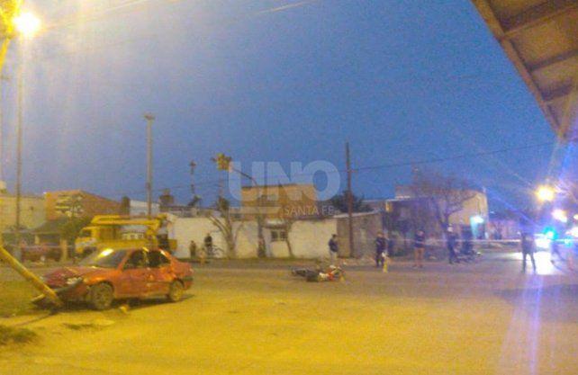 Cinco heridos en barrio Barranquitas por un violento choque