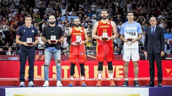 Luis Scola integró el quinteto ideal del Mundial de China