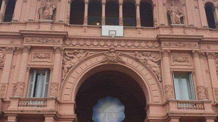 El Gobierno nacional le hizo un particular homenaje a la Selección de básquet