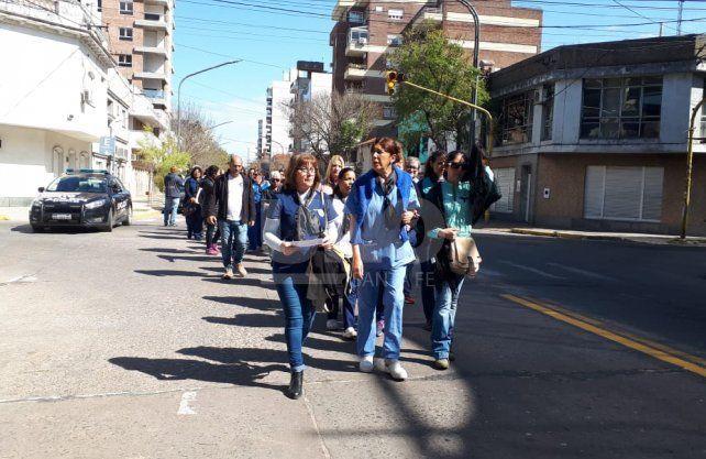 De la movilización participaron unas 80 personas.