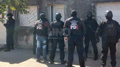 Imagen del allanamiento en barrio San Martin.