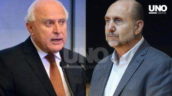 Cara a cara. El gobernador saliente y el electo se encontraron a solas en Rosario.