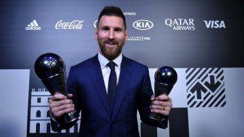 messi fue elegido como el mejor jugador del ano por la fifa