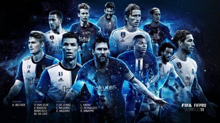 Messi integra el equipo ideal de la temporada 2018/2019