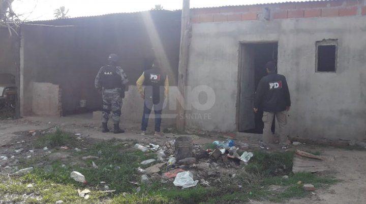 Operativo realizado en barrio Sarmiento.