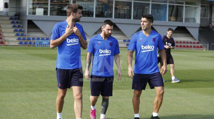 Messi volvió a entrenar y podría estar contra el Inter