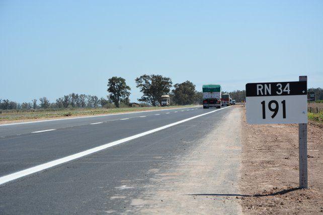 Habilitaron el primer tramo de la autopista de la ruta 34
