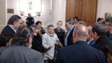 Las madres de Maximiliano Olmos, Lucas Pirovano y Julio Cabal fueron algunas de las que dialogaron con los diputados.