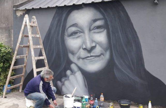 El mural realizado por el artista Eduardo Vilou y la Asociación Parque Federal.