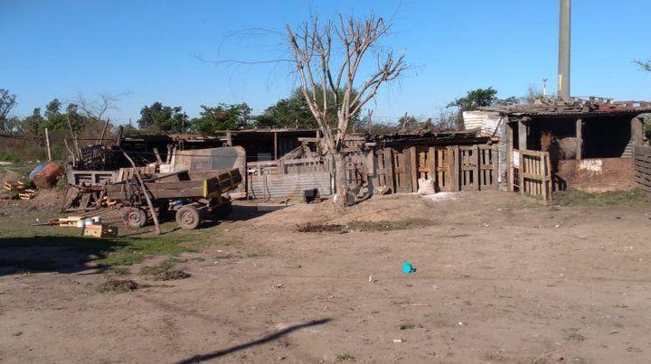 El lugar donde fue baleado el niño en el barrio San Agustín.
