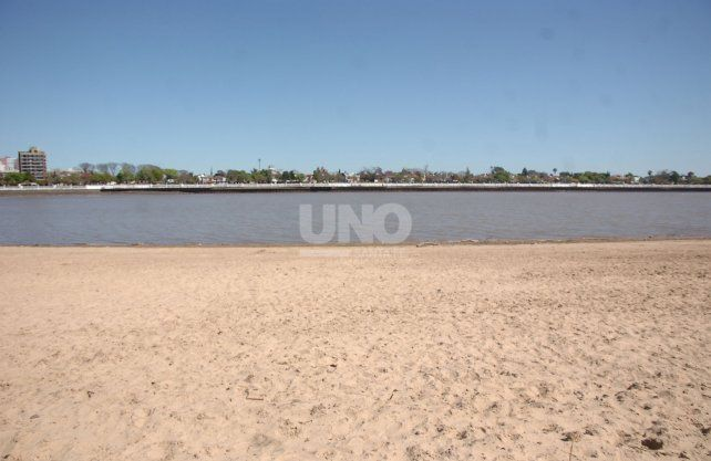 Imágenes de este lunes, con el río a 1,82 metros.