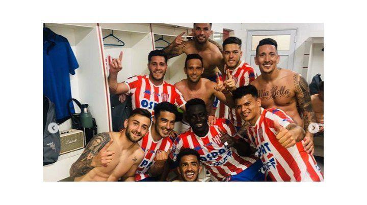 Así disfrutaron los jugadores de Unión el triunfo en el Clásico
