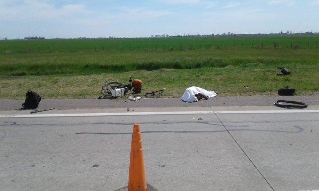 Murió arrollado un ciclista en la Ruta Nacional 19