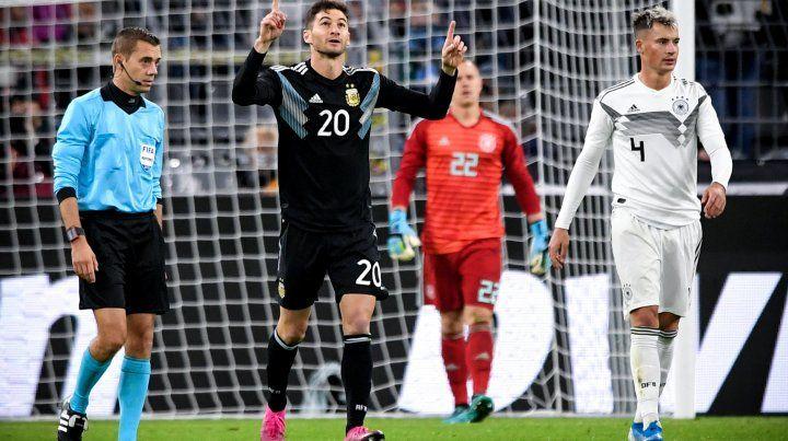Con un inspirado Alario, Argentina casi se lo gana a Alemania