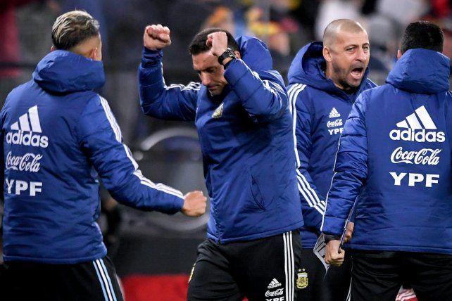 Scaloni sacó pecho en la Selección Argentina