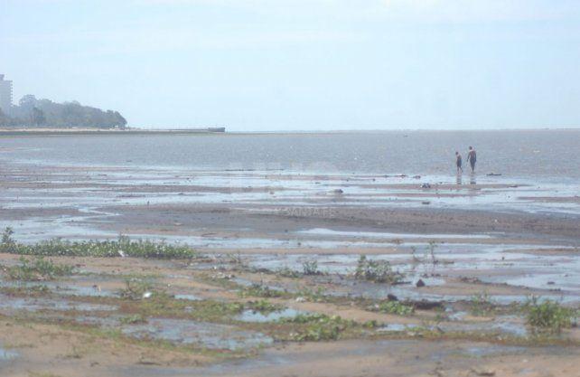 Así luce la Setúbal con la bajante del Paraná