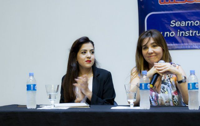 Natalí Bedini (izq.) y María Losada.