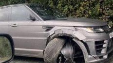 el kun agüero sufrio un accidente automovilistico