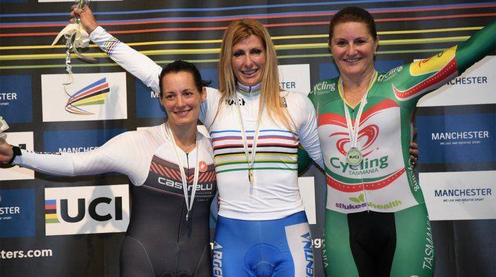 Adriana Perino se consagró campeona mundial máster de ciclismo