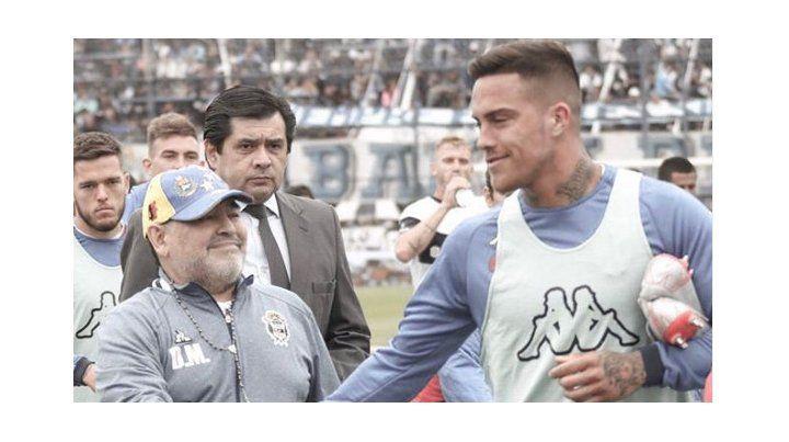 Los jugadores de Unión que se dieron el lujo de posar junto a Maradona