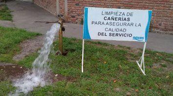 limpian la red de agua y puede haber baja presion