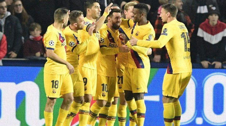 Messi encabezó la victoria de Barcelona ante Slavia Praga