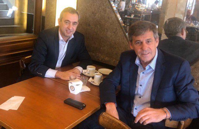 Javkin y Jatón conversaron sobre las realidades que deberán enfrentar desde el 10 de diciembre cuando asuman las intendencias de Rosario y Santa Fe