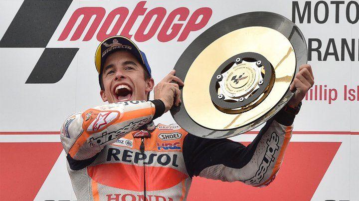Márquez atesoró el GP de Australia en la última vuelta