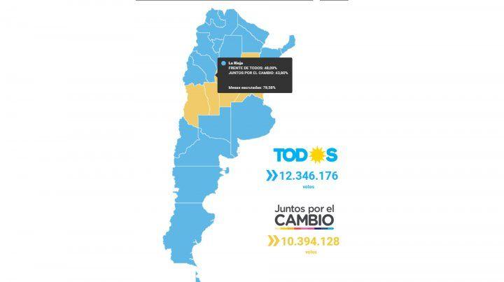 Mapa interactivo: cómo votó cada provincia a presidente