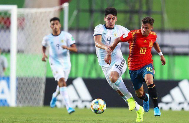 La Selección Sub 17 arrancó el Mundial con un empate ante España