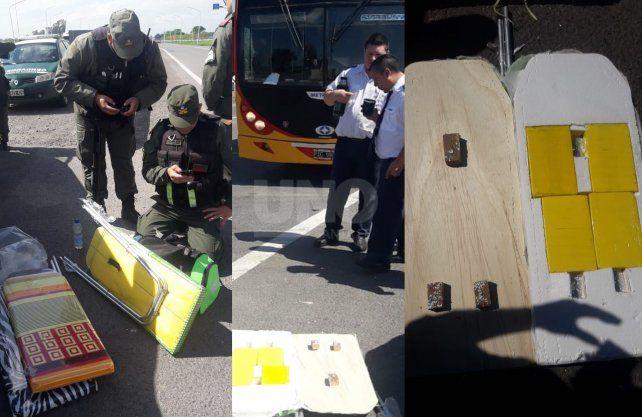 Imágenes del operativo y secuestro de droga.