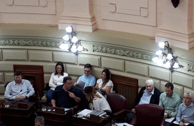 Amalia Granata se dio una vuelta por la Legislatura santafesina