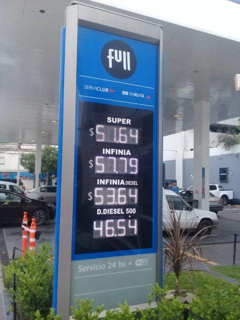 Los nuevos precios de YPF a partir del 1 de noviembre en la ciudad de Santa Fe