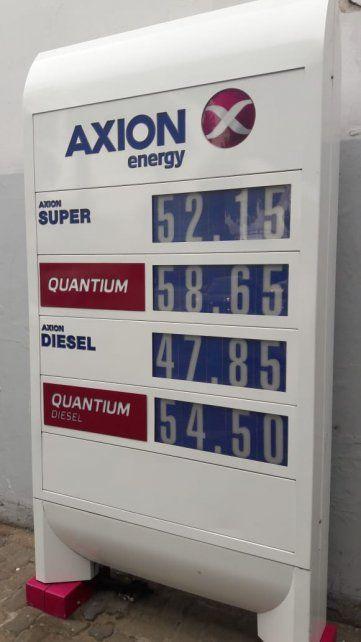 Los precios de Axion a partir del 1 de noviembre.