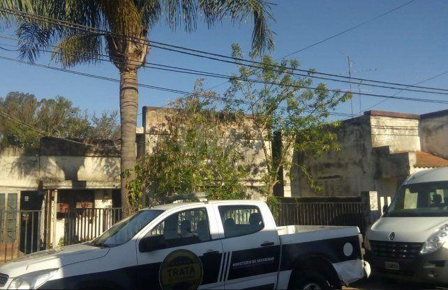 La casa en dódnde se detuvo al hombre en la ciudad de Gálvez.