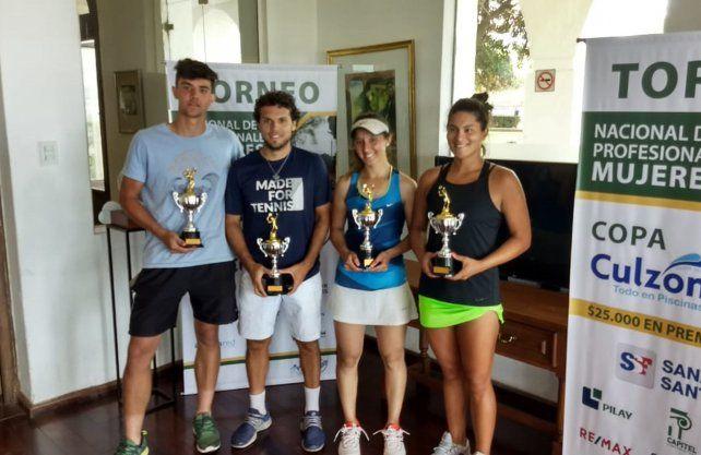Nicole Dufour y Gabriel Hidalgo se adjudicaron el Torneo Nacional Profesional