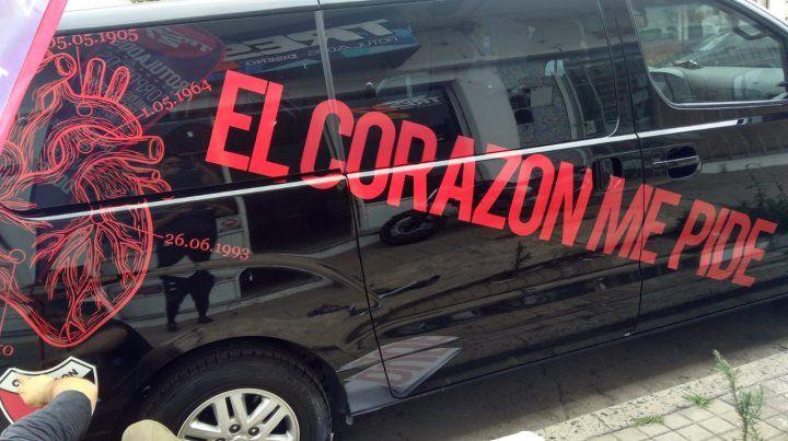 La original ocurrencia de un grupo de hinchas que viajarán a Asunción