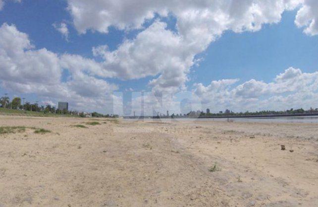 Playas de la ciudad con bajante