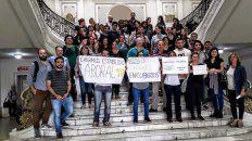 El martes protestaron en Casa de Gobierno.