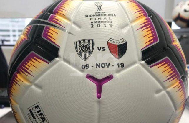 Mirá cómo será la pelota de la final de la Copa Sudamericana