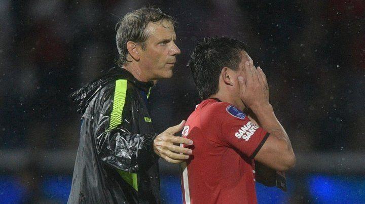 ¿Pulga Rodríguez se volvió a lesionar el tobillo antes de la final de la Sudamericana?