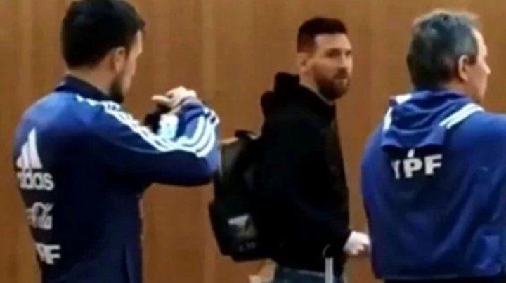 Messi se unió a la concentración argentina en Mallorca